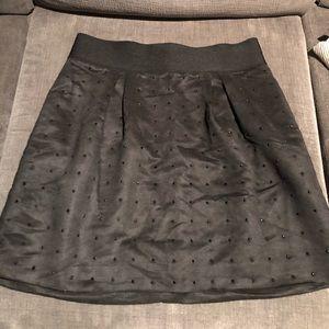 Club Monaco black studded skirt size 12